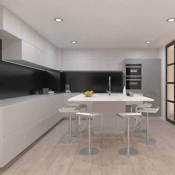 Dise o de cocina en 3d con isla tu casa en 3d - Diseno de cocinas en 3d ...