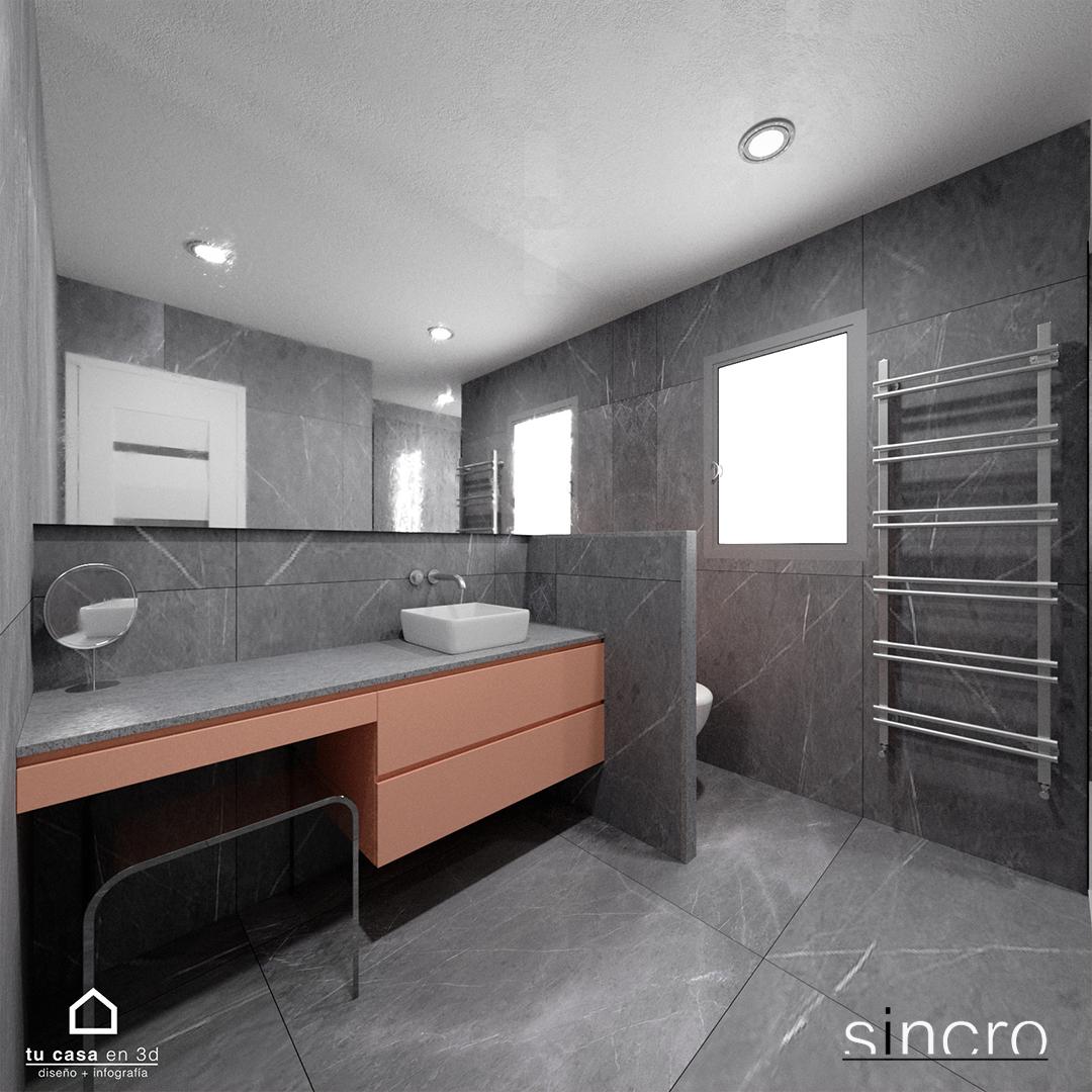 Reforma de Baño en color gris