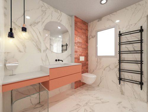 Reforma de baño en calacata y Rosa