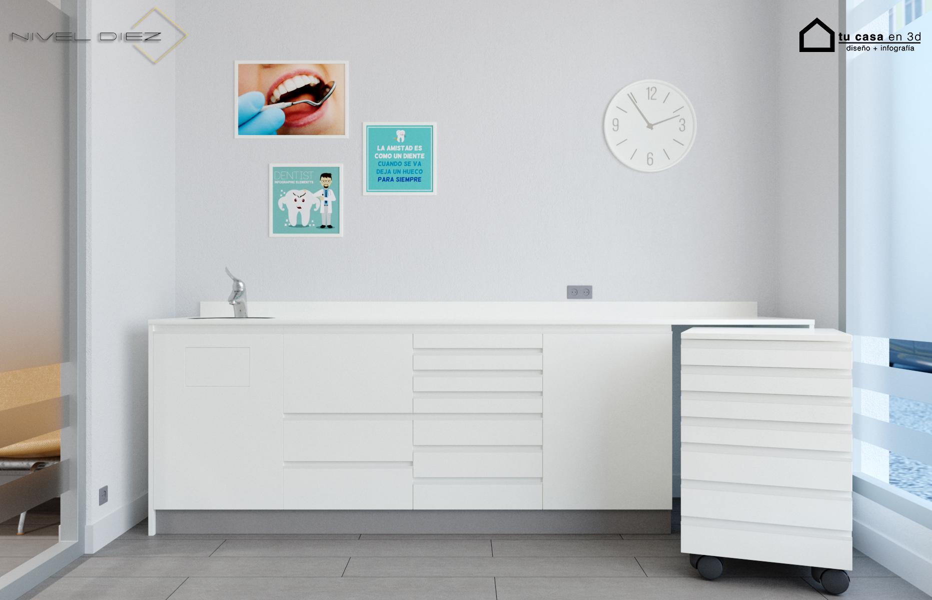 Mesa para dentista, mesa laboratorio ortodoncia